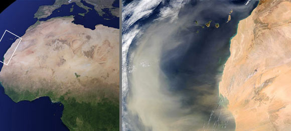 African dust storm